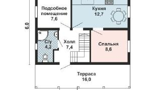 Проект дома AS-2216, 84 м2