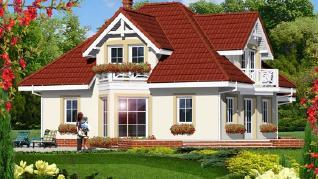 Проект  Дом в лимонах, 172.3 м2