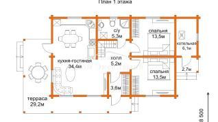 Проект дома Проект ДН-198, 197.23 м2