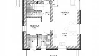 Проект дома Загородный дом из газобетона, 132 м2