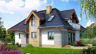 Проект  Дом в мнишках, 158.9 м2
