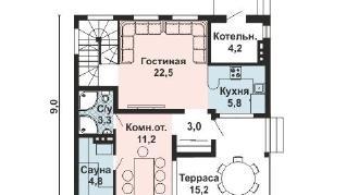 Проект дома AS-2156, 116 м2