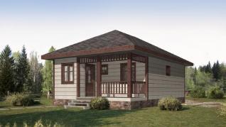 Проект дома КП-017, 54 м2
