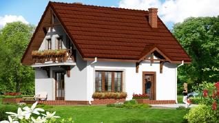 Проект  Дом в землянике 5, 96.2 м2