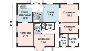 Проект дома AS-2167-2, 245 м2