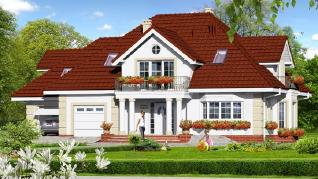 Проект  Дом во вьюнке 2, 259.9 м2