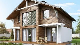 Проект  Проект дома 7 на 9 с мансардой - ЛЕГЕНДА, 154 м2