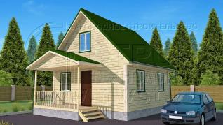 Проект дома Проект дома №54, 42 м2