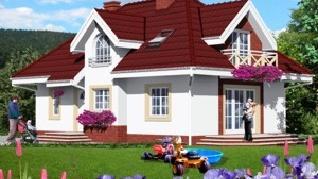 Проект  Дом в мнишках, 157.3 м2
