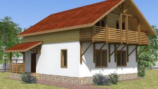 Проект  Дом Шале, 149 м2
