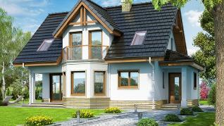 Проект  Дом в клюкве, 110.1 м2