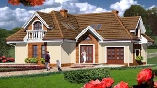 Проект  Дом в розах, 180.9 м2