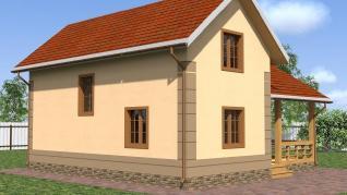 Проект  Миллирово - дом из газоблоков, 122 м2