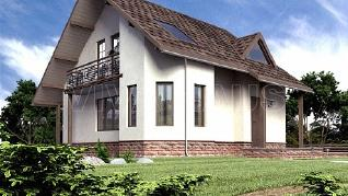 Проект  Проект дома 8 на 10 с мансардой - КВИНТА, 137 м2
