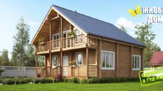 Проект  Дом из клееного бруса, 170 м2