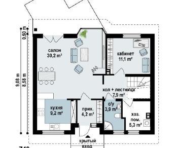 Проект дома Проект z40, 140.6 м2