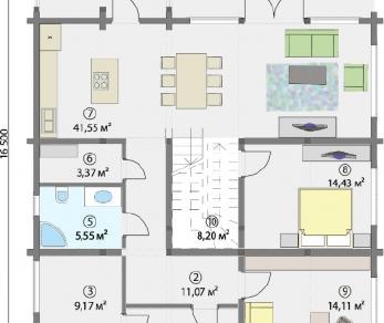 Проект  Дом под отделку, 325 м2