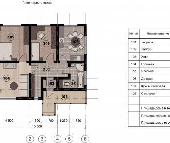 Проект дома КП-019, 79.3 м2