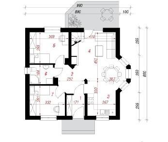 Проект  Дом в ягодах (ПД), 85.4 м2
