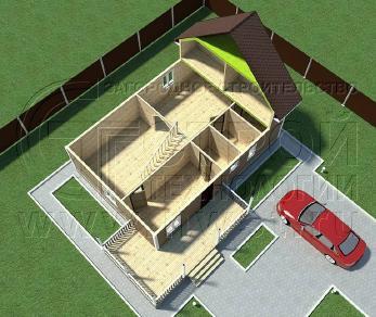 Проект дома Проект дома №110, 89 м2