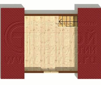 Проект бани Баня. Проект №6, 24 м2