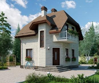Проект дома AS-2185, 53 м2