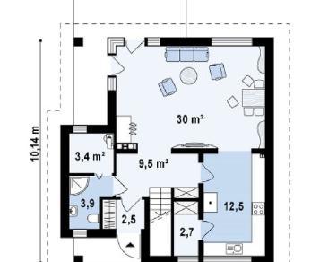 Проект дома Проект z134, 132.2 м2