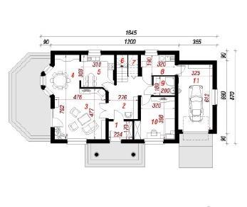 Проект  Дом в бархатцах 3, 169.6 м2