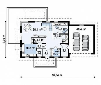 Проект дома Проект Z175, 259 м2
