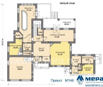 Проект дома M146, 414 м2