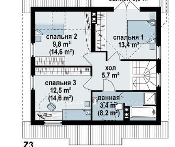 Проект дома Проект z3, 111.7 м2