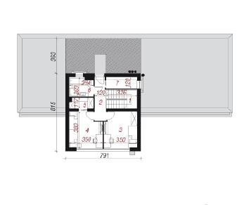 Проект  Дом в бораго, 174 м2