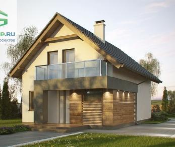 Проект дома Проект z174, 104.7 м2