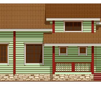 Проект дома Проект дома из клееного бруса «Брюгге», 157.11 м2