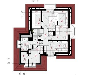 Проект  Дом под каркасом, 185.4 м2