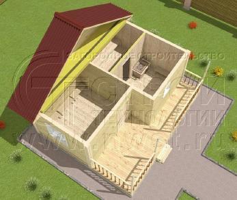 Проект бани Баня. Проект №10, 30 м2