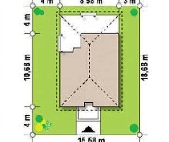 Проект дома Проект Z16, 65.4 м2