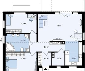 Проект дома Проект z251, 97.2 м2
