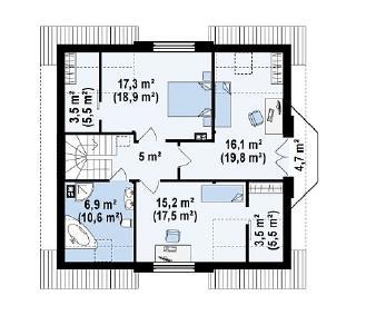 Проект дома Проект Z28, 168.6 м2
