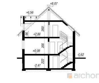 Проект  Дом в деванне 2 (П), 222.1 м2