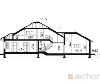 Проект  Дом в миколайках, 247.8 м2