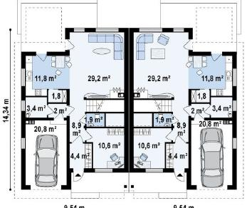Проект дома Проект zb11, 183.7 м2