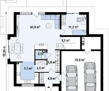 Проект дома Проект Z270, 238.7 м2