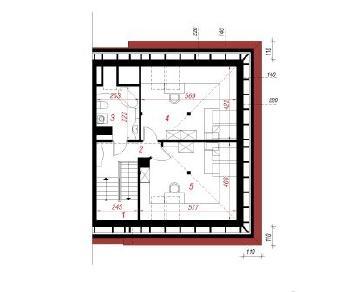 Проект  Дом в саговниках 2-П, 256.3 м2