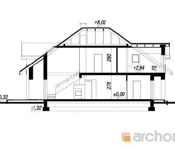 Проект  Дом в хебе, 218.8 м2