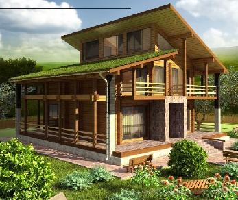 Проект  Трехэтажный дом с мансардой, 269 м2