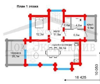 Проект дома Проект ДН-223/2, 222.65 м2