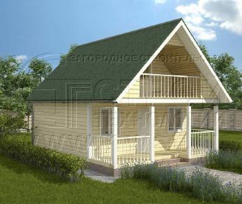 Проект дома Проект дома №63, 48 м2