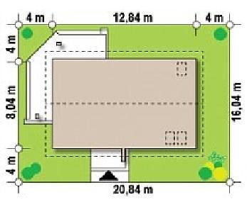 Проект дома Проект Z223, 161 м2