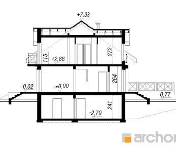 Проект  Дом в ясменнике 2, 142.3 м2